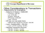 other considerations to transactions27