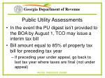 public utility assessments88
