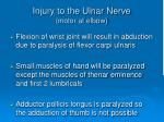 injury to the ulnar nerve motor at elbow1