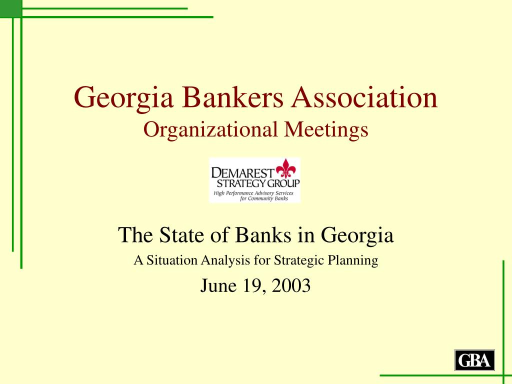 georgia bankers association organizational meetings