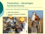 pastoralism advantages nutritional diversity