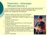 pastoralism advantages wild plant diversity 2