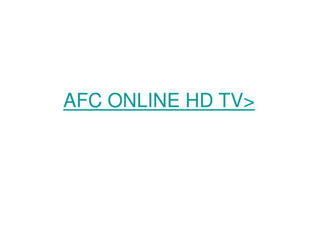 AFC ONLINE HD TV>