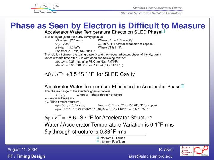 Phase as Seen by Electron is Difficult to Measure