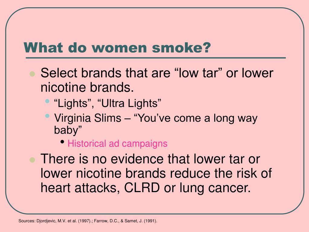 What do women smoke?