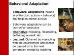 behavioral adaptation