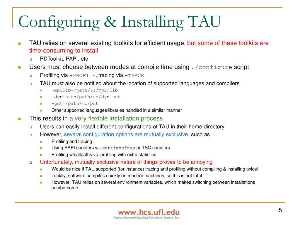 Configuring & Installing TAU