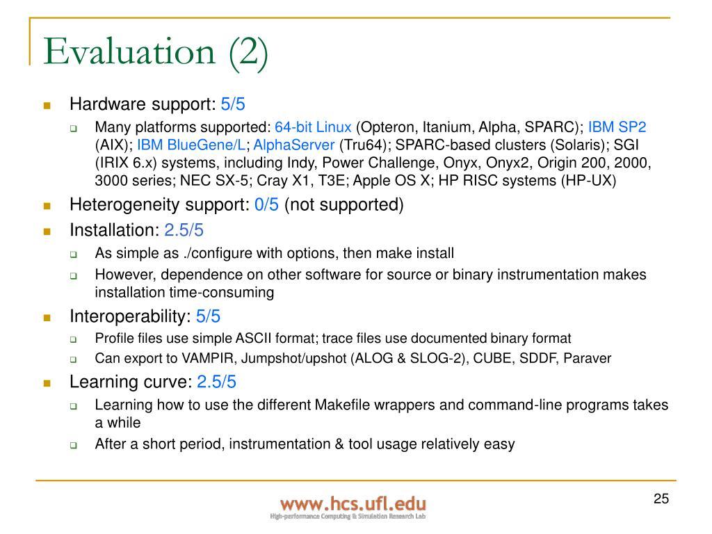 Evaluation (2)