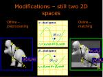 modifications still two 2d spaces