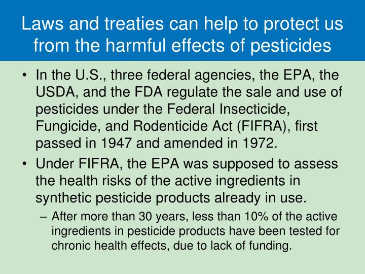 we should find ways of reducing the harmful effects of pesticides Environmental impact of pesticides  range from simple crowding out of wild plants in favor of more desirable cultivars to larger scale impacts such as reducing biodiversity by reducing food availability of native species,  pesticides have had harmful effects on growth and reproduction on earthworms.