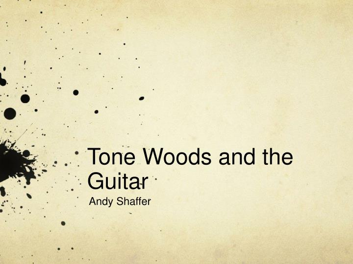 tone woods and the guitar n.