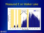 measured e on walker lake