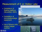 measurement of e on walker lake