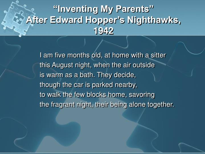 """Inventing My Parents"""