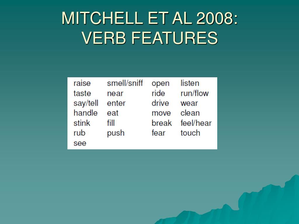 MITCHELL ET AL 2008: