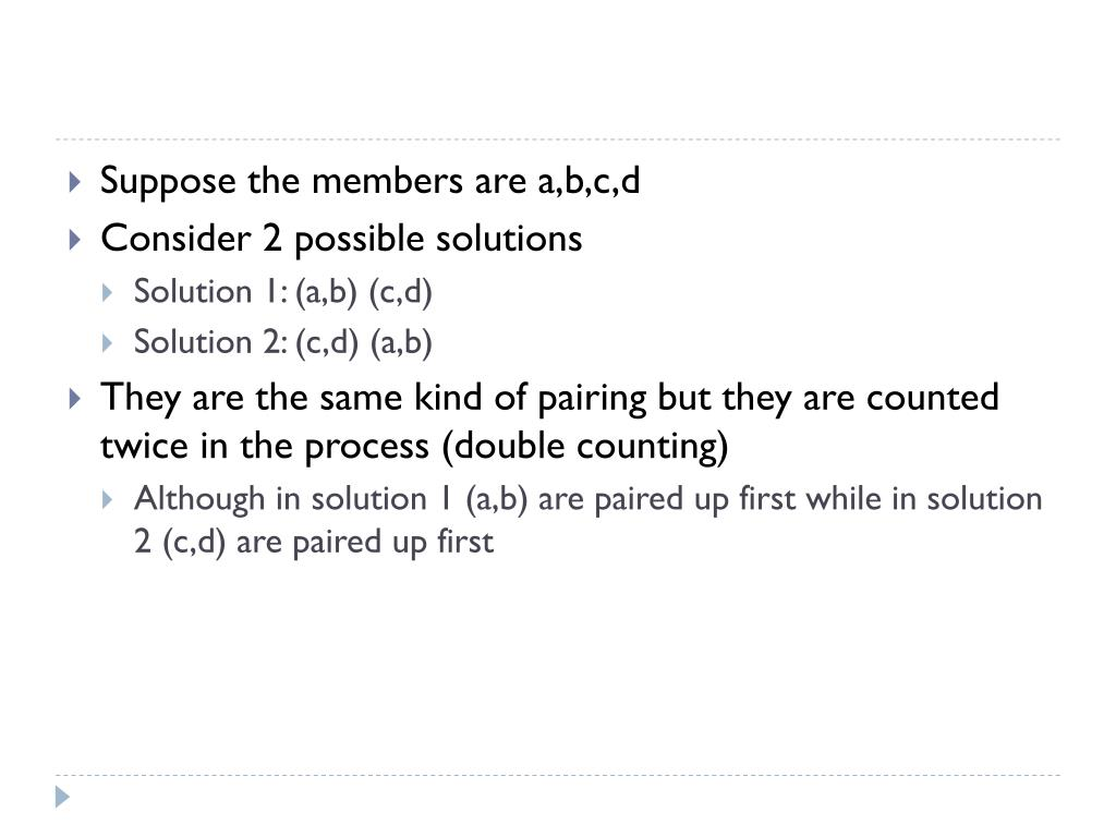 Suppose the members are a,b,c,d