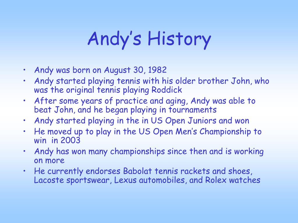Andy's History
