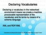 declaring vocabularies23