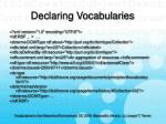 declaring vocabularies24