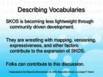 describing vocabularies44