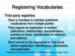 registering vocabularies31