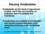 reusing vocabularies13