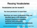 reusing vocabularies14