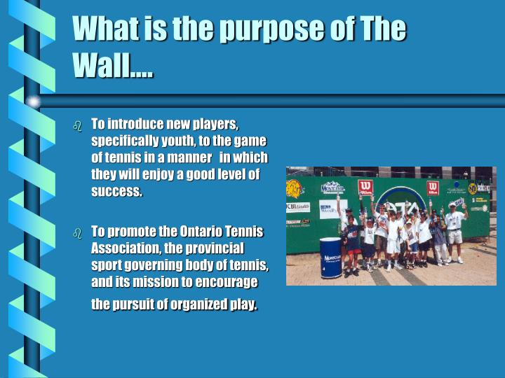 What is the purpose of the wall
