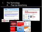 i the technology a pop up advertising