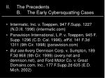 ii the precedents b the early cybersquatting cases
