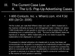 iii the current case law a the u s pop up advertising cases1