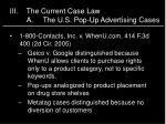 iii the current case law a the u s pop up advertising cases2