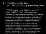 iii the current case law a the u s pop up advertising cases3