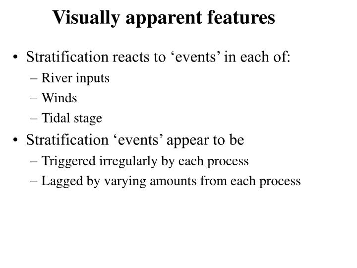 Visually apparent features
