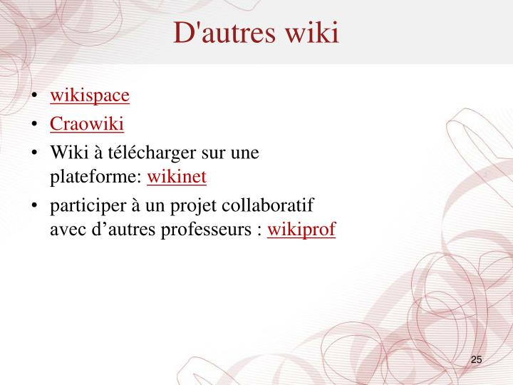 D'autres wiki
