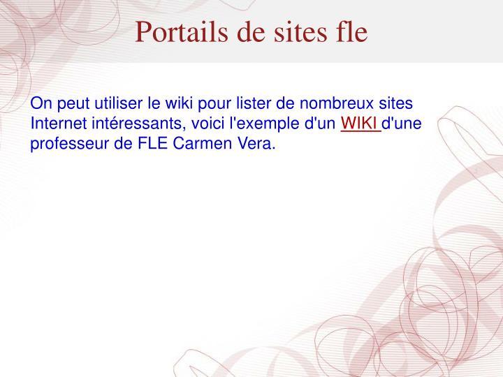 Portails de sites fle