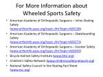 for more information about wheeled sports safety