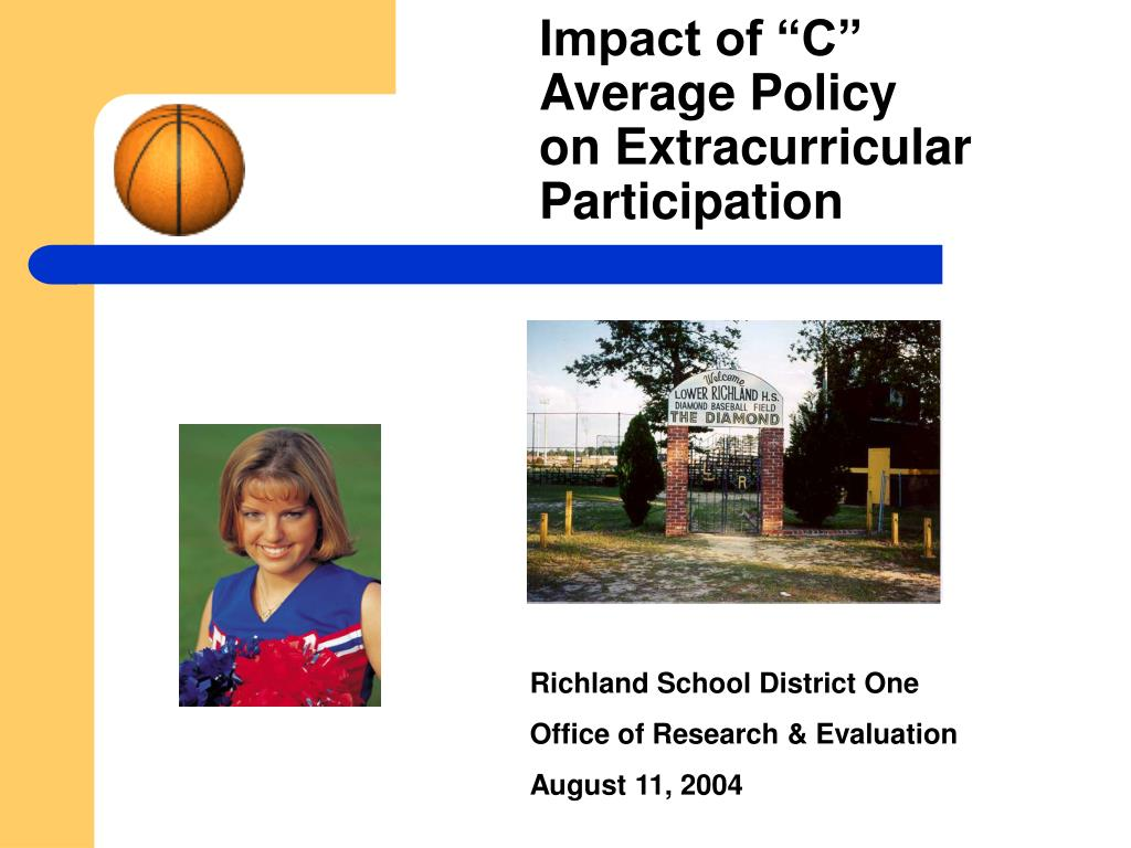 impact of c average policy on extracurricular participation l.