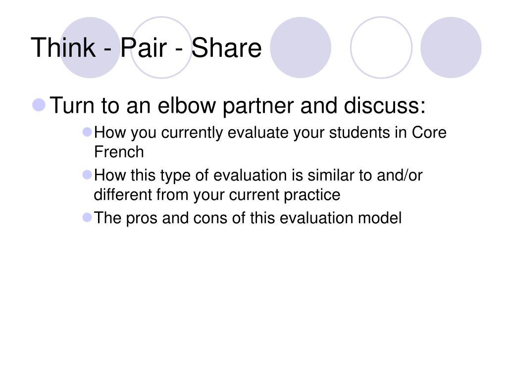Think - Pair - Share