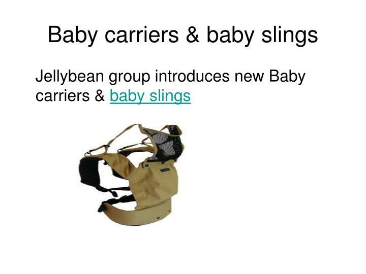 Baby carriers baby slings