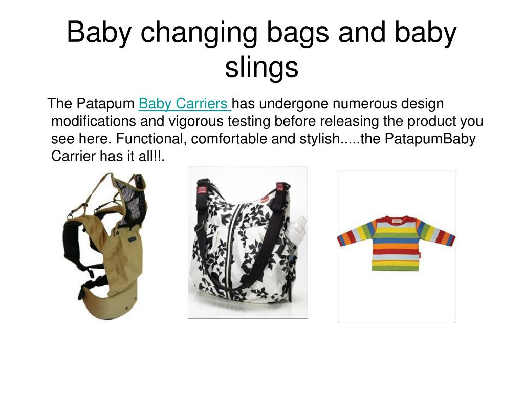 baby changing bags and baby slings l.