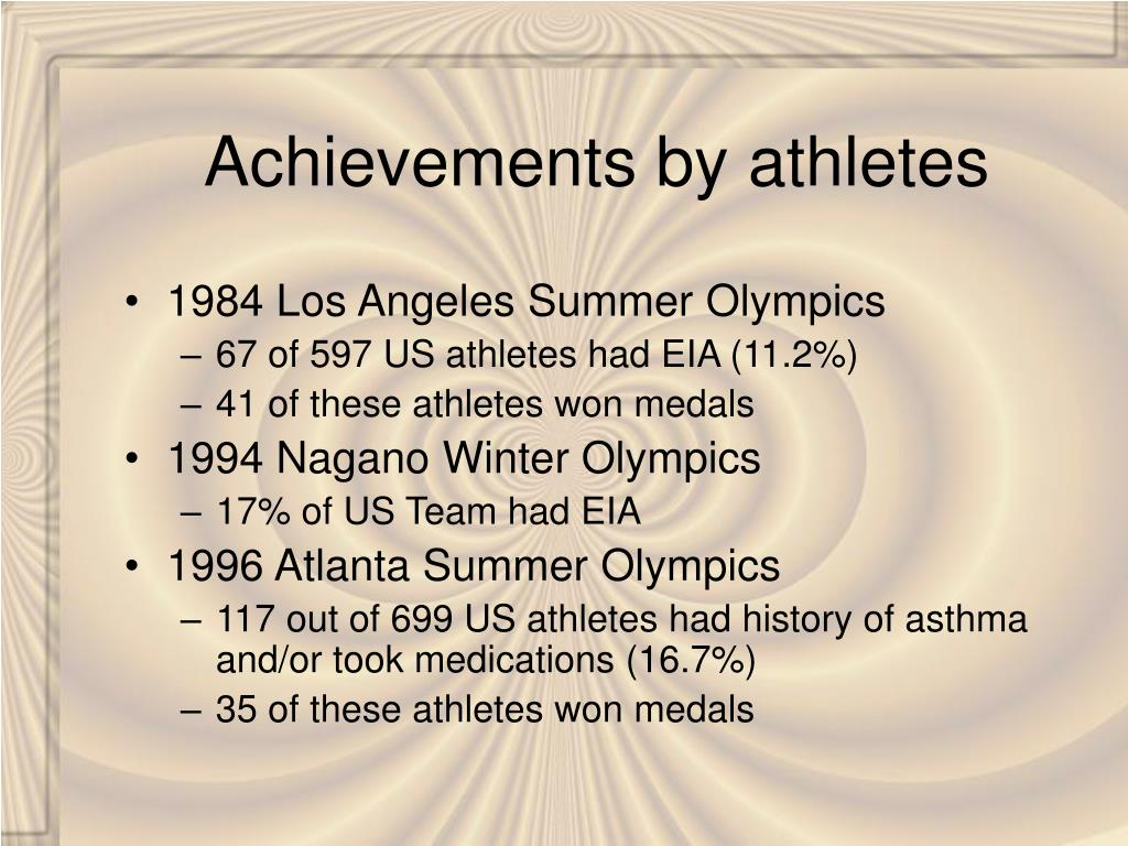 Achievements by athletes