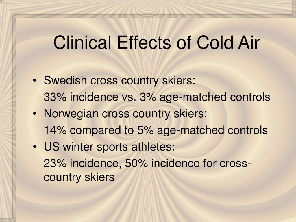 Clinical Effects of Cold Air