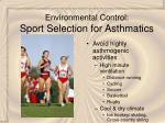 environmental control sport selection for asthmatics29