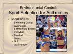environmental control sport selection for asthmatics30