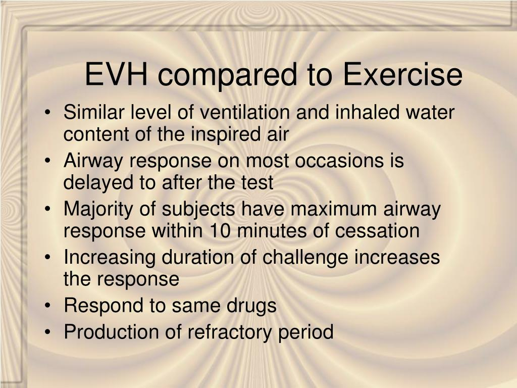 EVH compared to Exercise