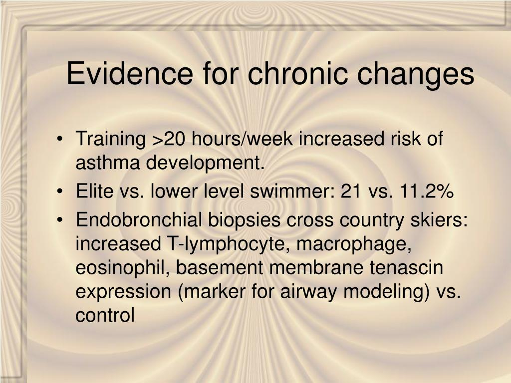 Evidence for chronic changes
