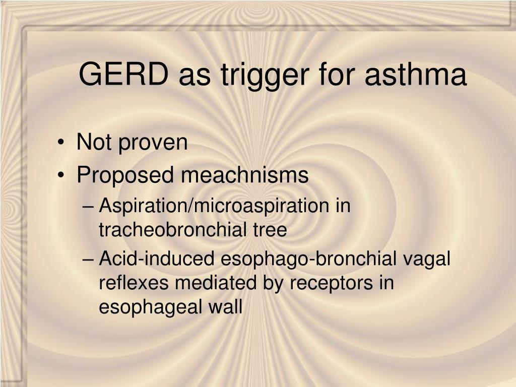 GERD as trigger for asthma