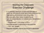 making the diagnosis exercise challenge
