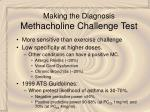 making the diagnosis methacholine challenge test